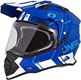O'Neal Sierra II Comb Motocross Motorrad Helm MX Enduro Trail Quad Cross Offroad Gelände, 0817, Farbe Blau Weiß, Größe M
