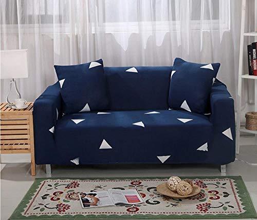 JNBGYAPS Funda para Sofá en Forma de L impresión Protector a Prueba de Polvo para Sofá Esquinero Estiramiento Sofá Cubiertas de Poliéster(Azul,3 plazas)