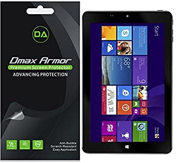 [3-Pack] Dmax Armor for Insignia 8 inch Windows Tablet  NS-15MS0832  Screen Protector High Definition Clear Shield