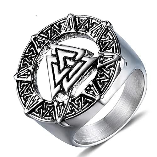 Anillos vikingos de acero inoxidable, Anillo con símbolo de Odin