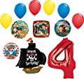 Jake and the Neverland Pirates 4th Birthday Party Supplies Balloon Bouquet Decorations
