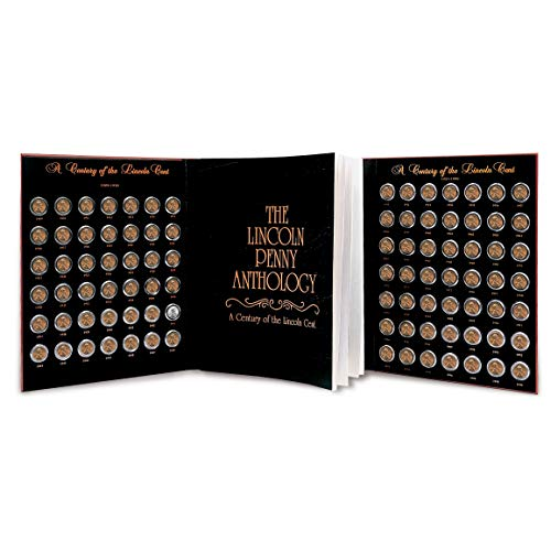Lincoln Penny Anthology Coffee Table Book and Coin Set| 1909 to 1999 Wheat and Memorial Cents | Certificate of Authenticity | Collectible Coins 20th Century |