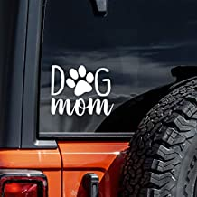 Vool Dog Mom Car Decal 4'' Puppy Bumper Sticker for Your Car