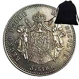 SeTing Moneda de 1813 del antiguo Imperio Romano Caballero Italia - Moneda Hobo Nickel Europe Challenges Monedas Italia Moneda + Bolsa KaiKBax - Moneda Mundial para Amigos Servicio Permanente