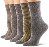 ESPRIT Damen Easy 5-Pack Socken, mehrfarbig (sortiment 0030), Einheitsgröße (DE 36-41) (5er Pack)