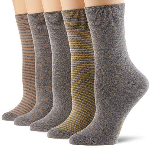 ESPRIT Damen Easy 5-Pack Socken, mehrfarbig (sortiment 0030), 36-41 (5er Pack)