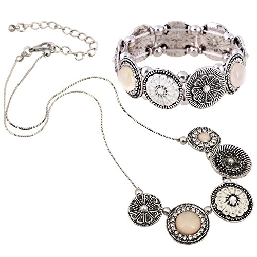 D EXCEED Womens Vintage Flower Jewelry Set Fashion Floral Jewelry Set for Ladies Gold