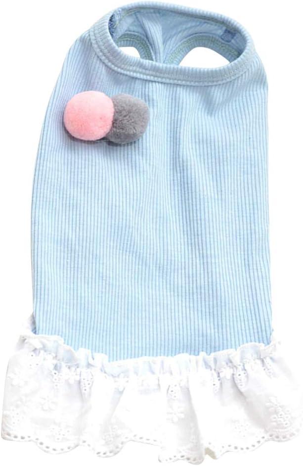 TEHAUX Sky Blue Dog Short Pompon Dress Sale Limited price price Skirt Breathab Summer