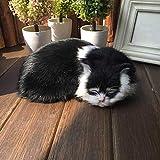 TXYFYP Realista Sueño Life Gato, Gato Juguete Suave, Imitación Peluche, Falso Felino Gatito, Emulación Sueño Respiración Juguete para Gato Mascota Gato, Fotografía Utilería Realista Sueño Gato