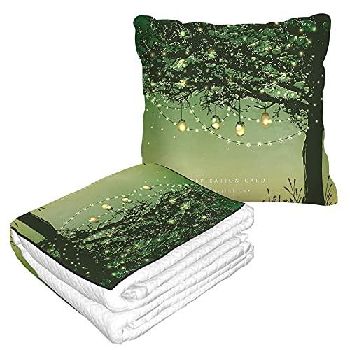Tree Travel Blanket und Pillow 2 in 1...
