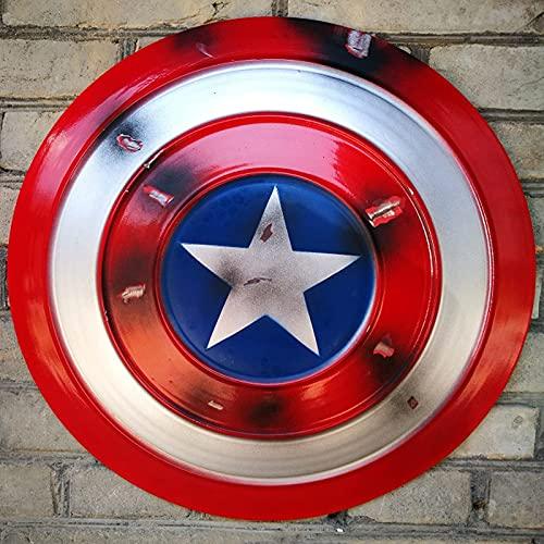 HLWJXS Capitán América Schild Metall Erwachsene 1: 1 Kostüm Cosplay Requisiten 47.5CM Für Die Bar Shop-Wand-Modell-Dekoration D