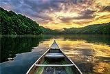 Boot Fluss Amazonas Insel Paradies XXL Wandbild Kunstdruck