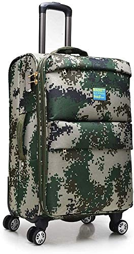Smisoeq Storage box, travel boarding luggage, Oxford cloth suitcase stand box Universal wheel business, camouflage 20/24 inch suitcase (Color : Camouflage, Size : 24Inch)