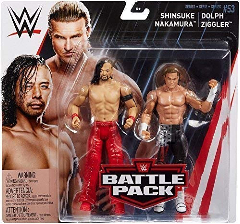salida Lucha Libre Shinsuke Nakamura & Dolph Ziggler WWE Mattel Battle Battle Battle Pack Básico Colección Serie 53  2018 Accesorios Figura de Acción de Lucha Libre  Seleccione de las marcas más nuevas como
