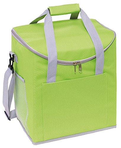 Kühltasche Grün die Isoliertasche verfügt über 2 seitliche Netzeinsteckfächer 32 x 23 x 37 cm verstärkte Tragegriffe, verstell und Abnehmbarer Schultergurt