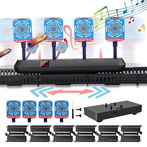 Innoo Tech Zielscheibe für Nerf, Beweglich Digital Elektrische Punktzahl Ziel, Automatische Rücksetzung der Sound Score-Ziele der Smart Lighting-Simulation, für N-Strike Elite/Mega/Rival Series