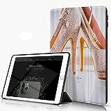 Custodia Protettiva Compatibile con iPad 9.7 Pollici 6,5 Generazione, Scarpa Tacco Alto Fashion Lady con Diamanti, con Funzione Auto Wake/Sleep