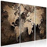 murando Cuadro en Lienzo Mapamundi 90x60 cm Impresión de 3 Piezas Material Tejido no...