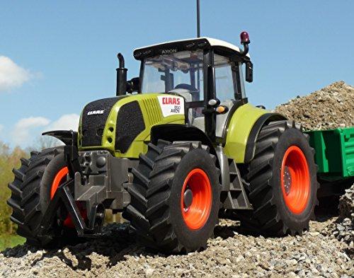 RC Auto kaufen Traktor Bild 3: WIM-SHOP RC Traktor CLAAS Axion 870 Anhänger in XL Länge 72cm Ferngesteuert*