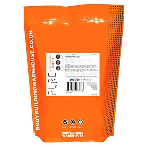 Bodybuilding Warehouse 500mg Pure Citrulline Malate 180 Capsules