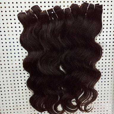 WDBS Tissages de cheveux humains Cheveux Brésiliens Ondulation naturelle 18 Mois 4 Pièces tissages de cheveux , 4 pieces