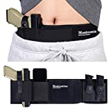 Belly Band Holster for Concealed Carry - Mostcomtac Gun Holsters for Men Women, Waist Holster for Pistols, Fit Glock, Ruger Lcp, S&W M&P 40 Shield Bodyguard, Sig Sauer, Beretta, 1911, Etc