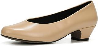 fereshte Women's Comfy Low Chunky Heel Dress Pump Shoes