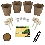 Bonsai Starter Kit - The Complete Growing Kit to Easily Grow 4 Bonsai Trees from Seed + Comprehensive Guide & Bamboo… 12 Everything needed to grow 4 beautiful bonsai trees - in one sleek box: Contains 4 types of seeds (Rocky Mountain Bristlecone Pine, Black Poui, Norway Spruce, and Flame Tree) stored in seed-safe vials for better germination, 4 biodegradable growing pots, 1 expanding-soil disc, 4 bamboo plant markers, 1 bonsai clipper and a beautiful, comprehensive and simple instruction booklet. #1 growth performance: Our rating speaks for itself! Planter's Choice is the only brand that stores the seeds in our seed-safe vials to ensure proper germination. The perfect diy gift: For mom, dad, him or her, this is the perfect gift to give on birthdays, anniversaries, holidays, housewarming, or any other occasion — ideal for beginners, masters, and children alike. See the excitement in their eyes as they experience growing indoor bonsai trees.