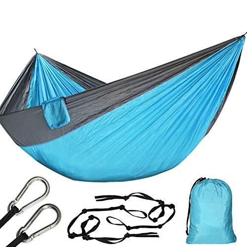 WYUU 200kg Hamac Double Portable Camping Sauvage Parachute, Exterieur Hamac 2 Places Jardin Randonnée Adulte Fatboy (320cm*200cm Leger