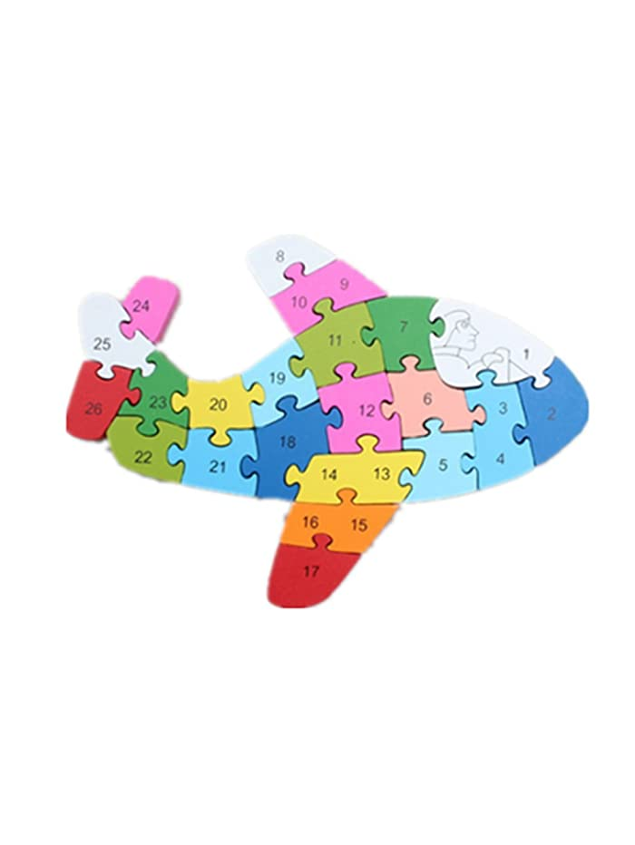 Puzzle Wooden Blocks Toys For Toddlers Children's Gift Of Ages 2-7(aircraft)