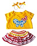 Butterfly Costume Outfit Teddy Bear Clothes Fits Most 14' - 18' Build-a-bear and Make Your Own Stuffed Animals