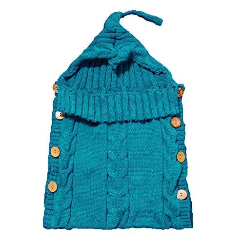 Mariisay Toddler Sleeping Bag Nouveau Né Casual Bébé Chic Swaddle Baby Kids Couverture Doux Tricot Wrap Infant Poussette Wrap Berceau Couverture (Color : Dunkelblau, Size : Size)
