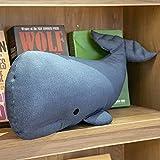 EYRLISL Nordic The White Blue Whale bebé Hecho a Mano recién Nacido Dormitorio decoración Almohada Cuna Juguetes...