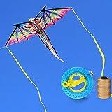 ZCFXGHH Colorido 3D Hijos Dragón Cometa Juguete Dragón Cometa Realista Cola Larga Cola con El Juguete Al Aire Libre para Adultos Niños De La Actividad del Juego,Kite+700m Line
