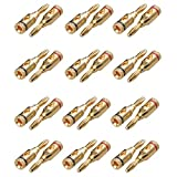 SUNJOYCO 12 Pairs (24 PCS) Gold Plated Banana Plugs, Closed-Screw Type Pin Plugs Connectors Jacks for Speaker Wire Cable, Home Theater, Audio Components, Wall Plates, Gauge Cables