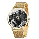 Benutzerdefinierte Foto Quarzuhr Personalisierte Edelstahl Armbanduhr Für Männer Gemacht - Vatertagsmode Einfache Uhr Geschenk-Gold/Schwarz/Blau