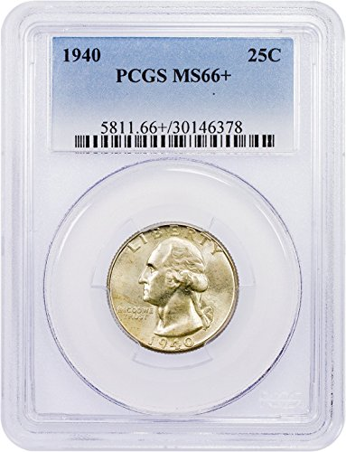 1940 P Washington Quarter Quarter MS66+ PCGS