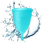 Blossom Menstrual Cup Say No to Tampons. Get Blossom Cups for Menstrual (Small, Blue)