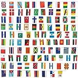 Juvale Ensemble de 100 Drapeaux de Pays pour Décoration - Guirlande de 25,9 m, Chaque Drapeau 13,2...