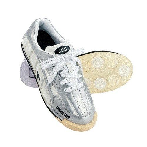 (ABS) ボウリングシューズ NV-3 ホワイト・シルバー 25cm 右投げ 【ボウリング用品 靴】