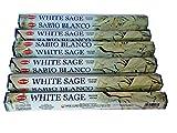 Bestthing Hem - Incenso di salvia bianca, 6 x 20 bastoncini (120 bastoncini)