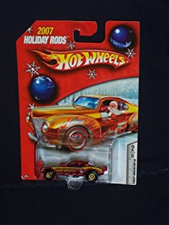Hot Wheels 2007 Holiday Hot Rods 2 of 6 Plymouth Barracuda Funny Car Red Real Rider Tires 1:64 Scale