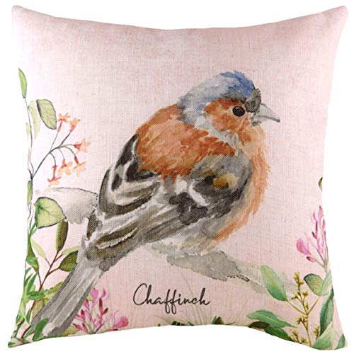 Evans Lichfield Chaffinch Cushion Cover, Multi, 43 x 43cm