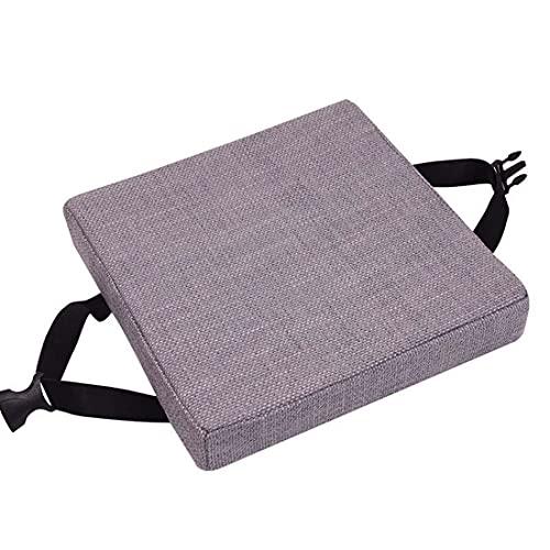 qing yun Cojines de asiento de silla, gruesos 5/8 cm, cojines de silla de comedor, cuadrados antideslizantes para taburete, jardín, interior y exterior (30 x 30 x 8 cm), color morado