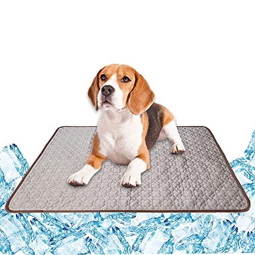 Kühlmatte Selbstkühlende Matte Hundematten Hundedecke Kaltgelpad für Hunde Katzen Haustier Brau