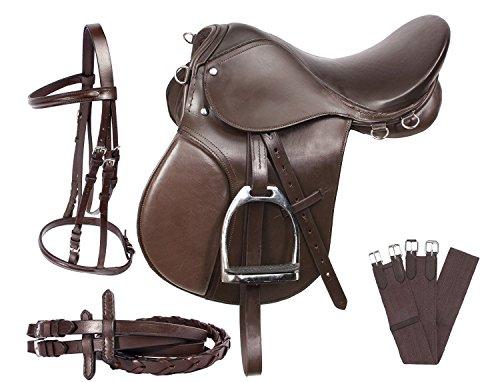 PMP - Kit de Arranque para Caballo de Equitación DE 17 Pulgadas, Color café