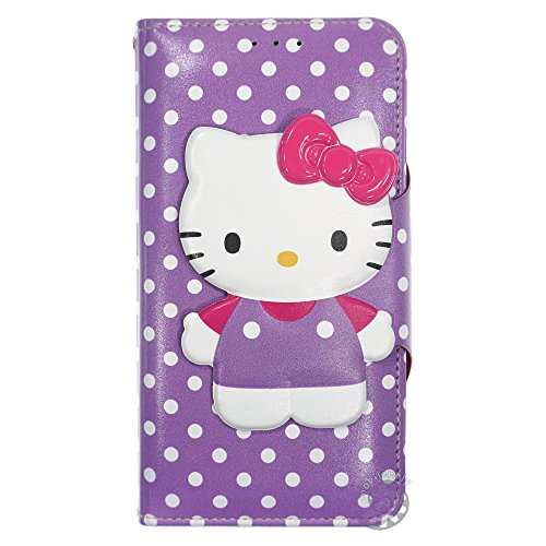 Carcasa para iPhone 6S Plus/iPhone 6 Plus, Hello Kitty, compatible con iPhone 6S Plus iPhone 6 Plus Apple iPhone 6S Plus Apple iPhone 6 Plus (fabricado en Piel sintética)