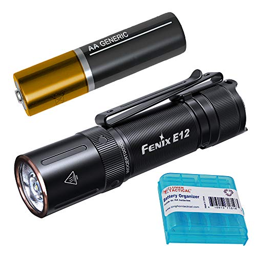 Fenix E12 v2 160 Lumen Compact 1xAA EDC Flashlight with LumenTac Battery Organizer