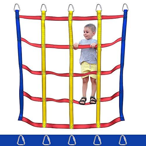 Trsmima Climbing Net Indoor/Outdoor - Playground Cargo Net - Climbing Net for Swingset- Cargo Net for Kids - Ninja Net Climbing&Ninja Warrior Obstacle Course
