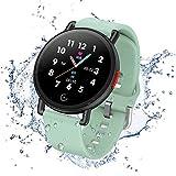 Smartwatch Pulsera Actividad Inteligente Reloj de Fitness Tracker Impermeable IP68 con Podómetro Pulsómetro Monitor de Sueño para Hombre Mujer Niños con iOS y Android (Verde)
